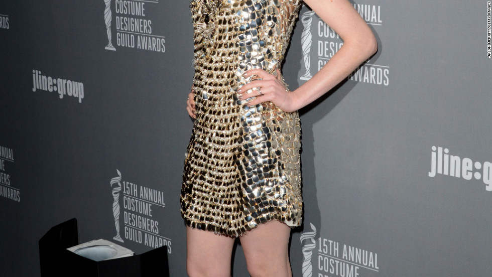 Anne Hathaway attends the Costume Designers Guild Awards in Beverly Hills.