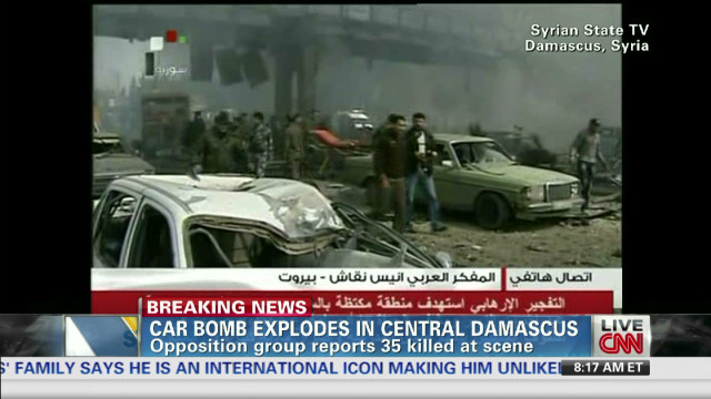 Car bomb explodes in central Damascus