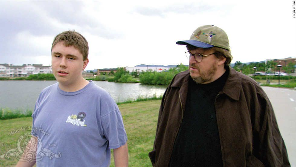 "Director Michael Moore won an Oscar for Best Documentary for his 2002 movie ""Bowling for Columbine,"" which dealt with guns in America after the tragic shooting."