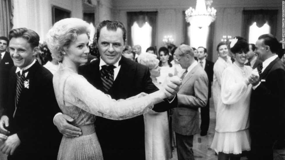 "Anthony Hopkins and Joan Allen played Richard and Pat Nixon in the 1995 biopic ""Nixon."""