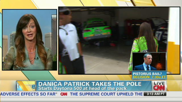 Danica pole position 'history in making'