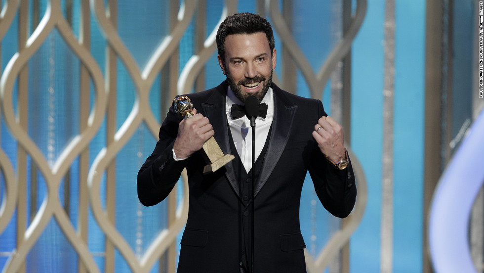 "Affleck accepts the award for best director for ""Argo"" at the Golden Globe Awards on January 13. And the rest is history."