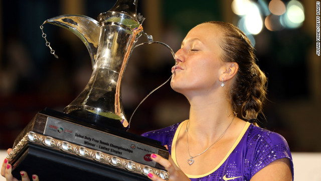 Petra Kvitova won her first tournament since the New Haven Open last August.