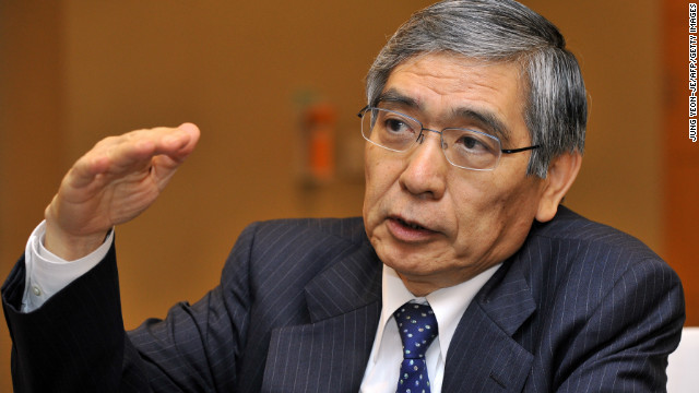 A Bank of Japan board member has attacked bank governor nominee Haruhiko Kuroda's inflation target.