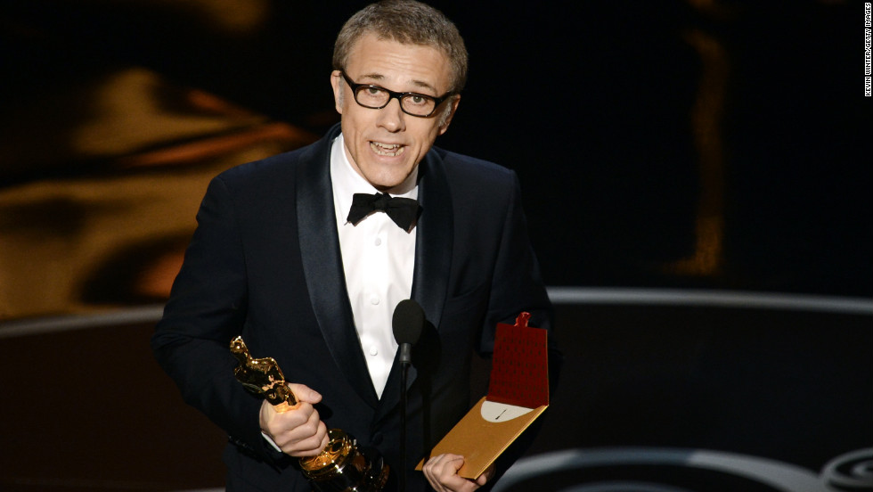 "<strong>Christoph Waltz, best supporting actor:</strong> ""Django Unchained"" star Christoph Waltz graciously accepted his second Oscar on Sunday night, thanking both the writer-director, Quentin Tarantino, as well as his co-stars. ""We participated in a hero's journey,"" Waltz said, ""the hero here being Quentin."""