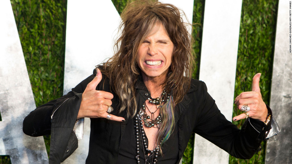 Steven Tyler at the 2013 Vanity Fair Oscar party.
