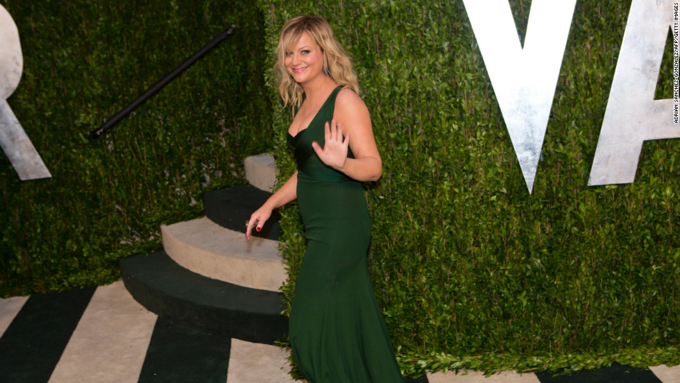Amy Poehler at the 2013 Vanity Fair Oscar party.