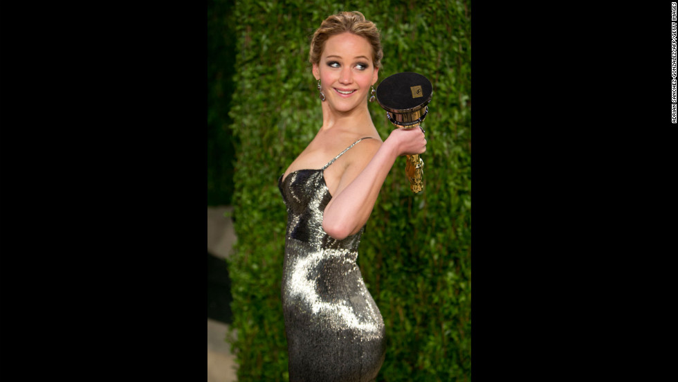 Jennifer Lawrence at the 2013 Vanity Fair Oscar party.