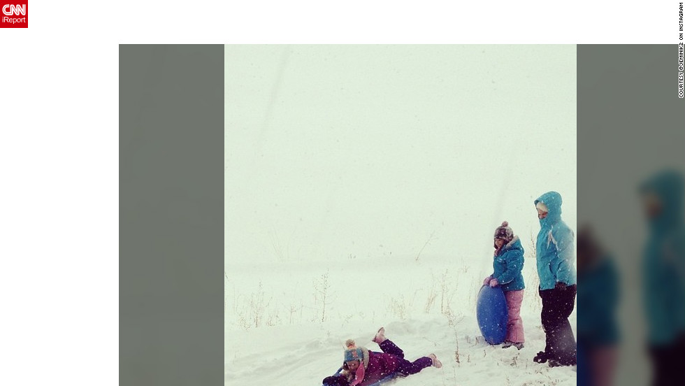 "Snow much fun! Instagram user <a href=""http://ireport.cnn.com/docs/DOC-932561"" target=""_blank"">@jeminik2</a> shares this photo of her three daughters enjoying a day of sledding just southeast of Denver, Colorado."
