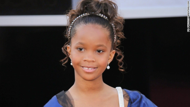 Quvenzhané Wallis on the Oscar red carpet.
