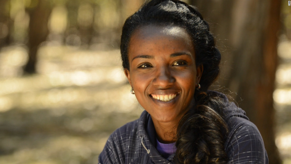 """He used to tell me that I would be a great runner,"" says Dibaba of Eshetu, her first coach. ""He knew I would be a fast runner, that's why he started coaching me."""