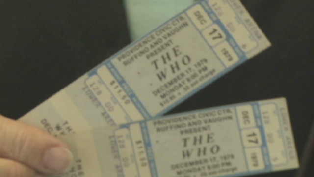 Tickets from 1979 Who concert honored