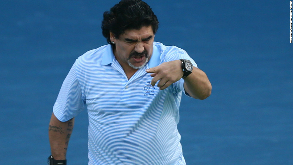 The 52-year-old was in the stands to watch Del Potro's 6-3, 6-3 second round win over Somdev Devvarman before treating the crowd to a five minute exhibition.