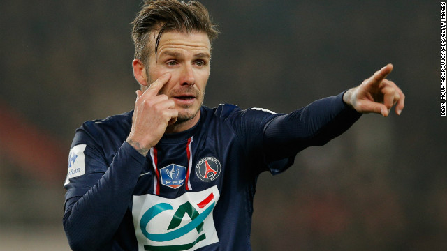 David Beckham made his full debut for Paris Saint-Germain in the French Cup contest against Marseille.