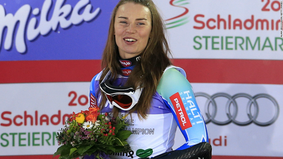 It's been hard to keep Maze off the podium during her triumphant 2012-13 season, during which she had 20 top-three World Cup finishes up until March 3.
