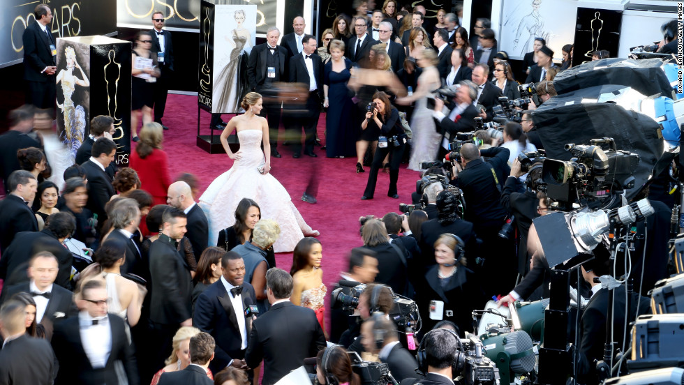 Just look at her at the 2013 Academy Awards. Simply stunning.