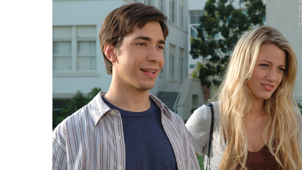 "When Justin Long's Bartelby can't get into college, he invents the South Harmon Institute of Technology (we'll let you figure out why that's funny) in ""Accepted."" Blake Lively played his love interest and Jonah Hill, not pictured, played his best bud."