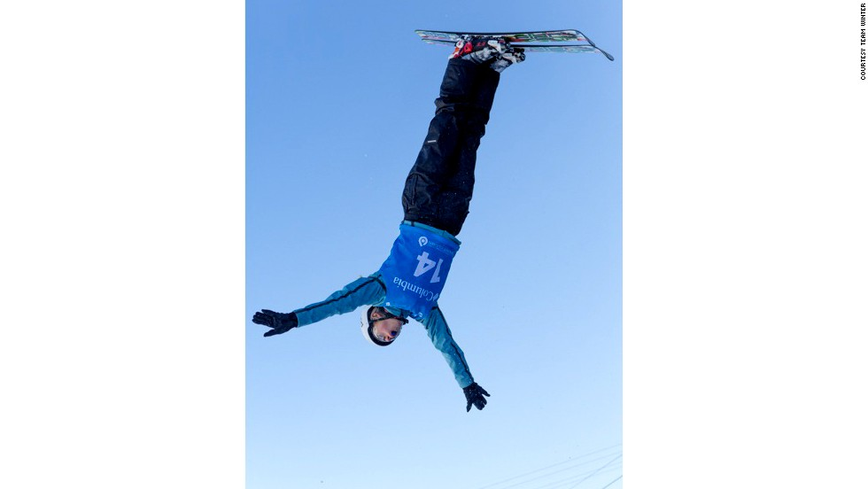 Winter trains at the Utah Olympic Park in aerial skiing. She is a hopeful for the 2018 Winter Olympics in South Korea.