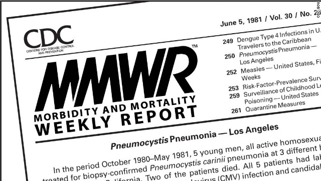 The first mention of HIV appeared in the CDC's Morbidity and Mortality Weekly Report on June 5, 1981.