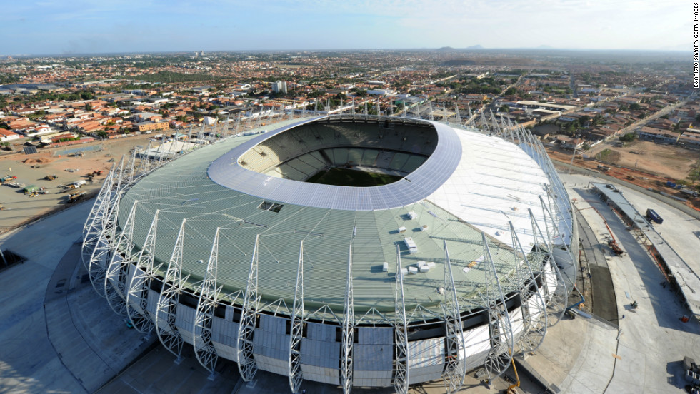 The Arena Castelao is the first stadium ready for the eight-nation Confederations Cup in June 2013. The competition, which is a dress rehearsal for the the 2014 World Cup, will bring together four former world champions.