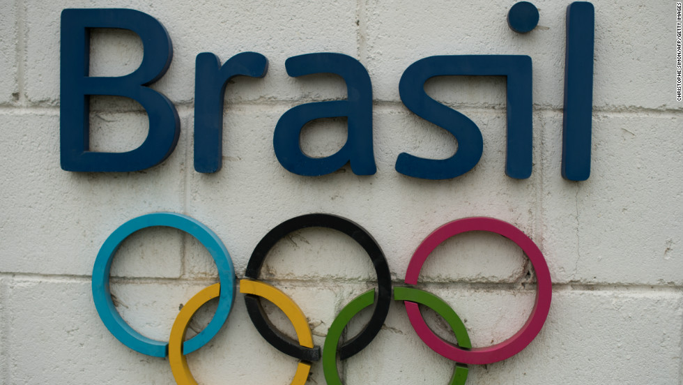 The Rio 2016 Olympics logo is seen on a wall of the future Olympic Park in construction in Barra de Tijuca, Rio de Janeiro, Brazil on November 20, 2012.
