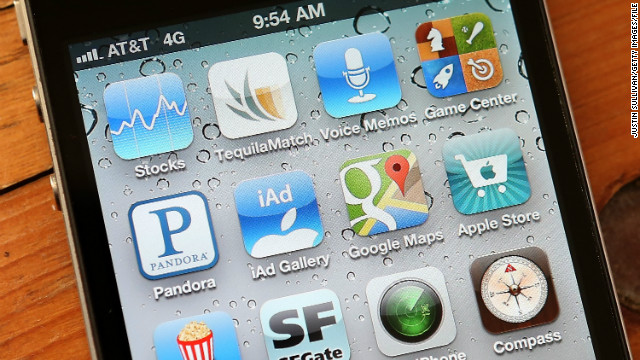 An icon for the Google Maps app is seen on an Apple iPhone 4S on December 13, 2012 in Fairfax, California.