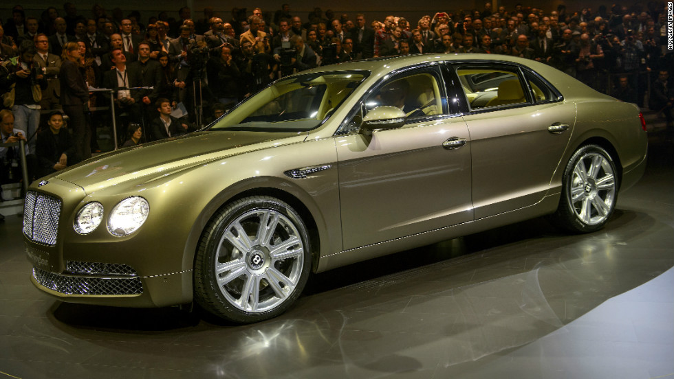 The Flying Spur Bentley has a twin-turbocharged 6.0 liter W12 with a 15% fuel efficiency improvement.