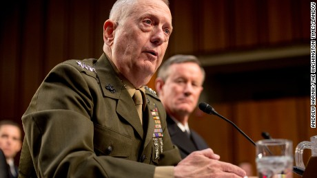 Commander of the U.S. Central Command Gen. James N. Mattis testifies before the Senate Armed Services Committee for a review of the defense authorization request for fiscal year 2014 and the future years of the defense program on Capital Hill, Washington, D.C., Tuesday, March 5, 2013
