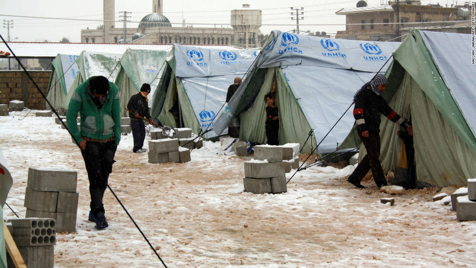 The U.N. High Commissioner for Refugees supplied tents in Al-Marj, Lebanon.