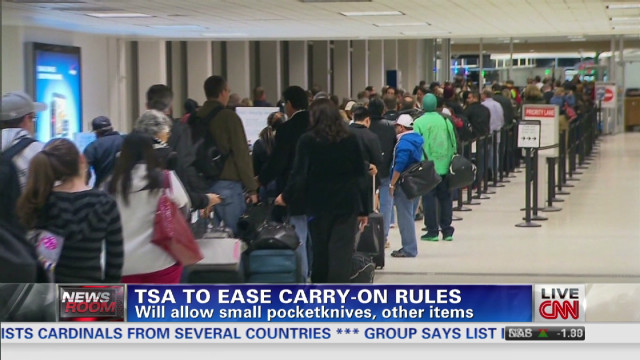 TSA to lift ban on small items