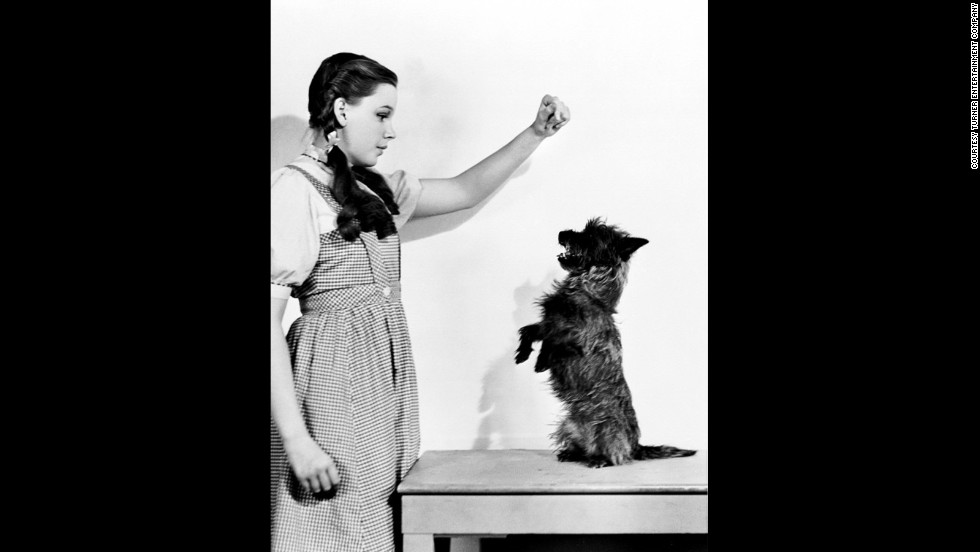 Judy Garland and Terry pose for a publicity shot.
