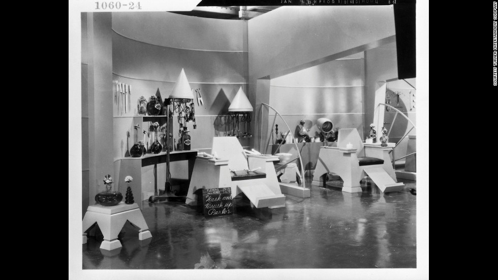 The beauty parlor set from the Emerald City.
