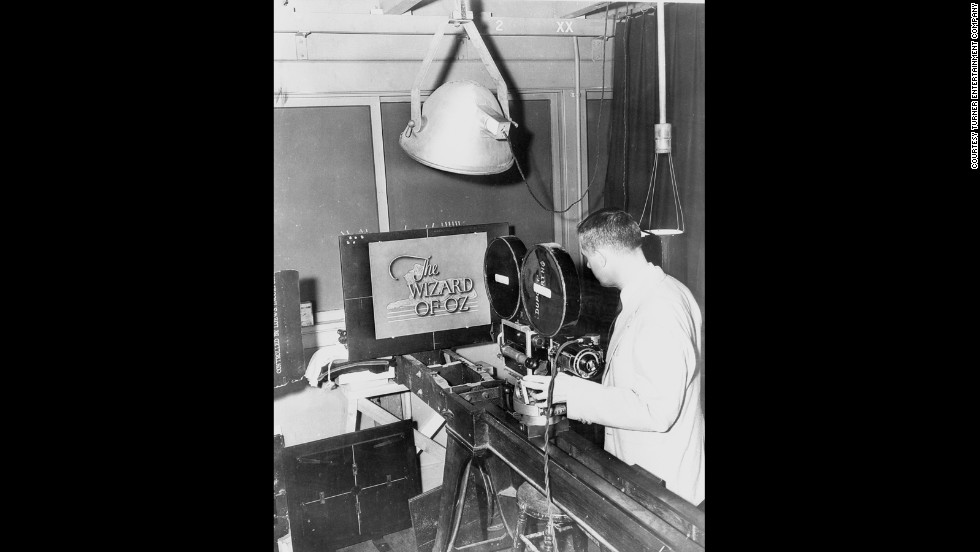 "A technician photographs an opening title concept for ""The Wizard of Oz"" that was not used."