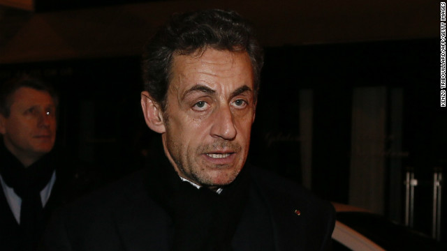 French former President Nicolas Sarkozy on January 28, 2013 in Paris.