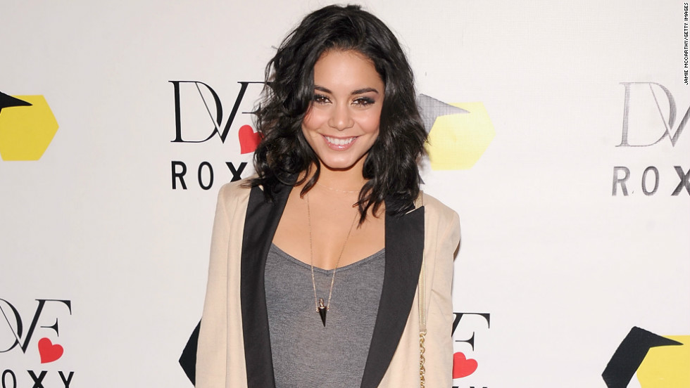 """Spring Breakers"" actress Vanessa Hudgens stops by the DVF Loves ROXY Launch in New York on March 6."