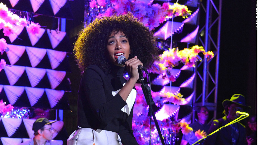 Solange Knowles performs in New York on March 6.