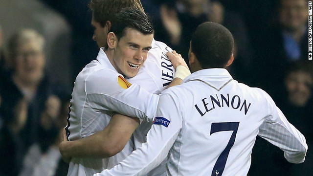 Gareth Bale was on target as Tottenham beat Inter Milan 3-0 in the Europa League