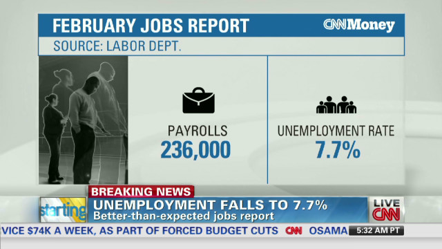 Feb. unemployment down, job creation up