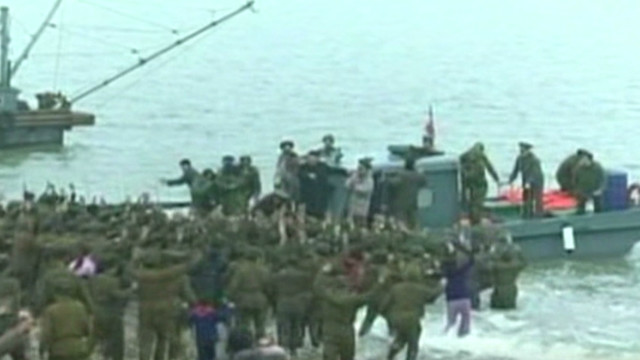 They raced into sea for Kim Jong Un