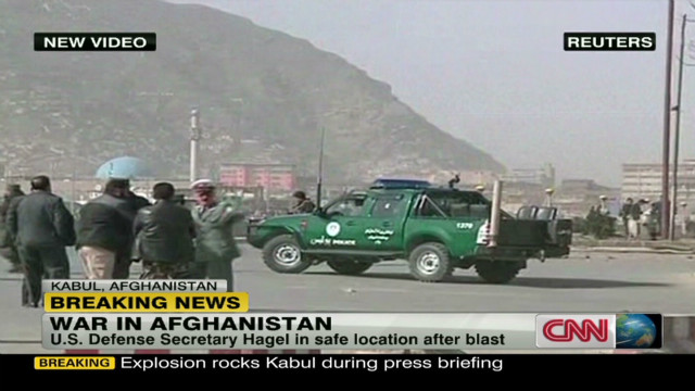 Deadly blast in Kabul during Hagel visit