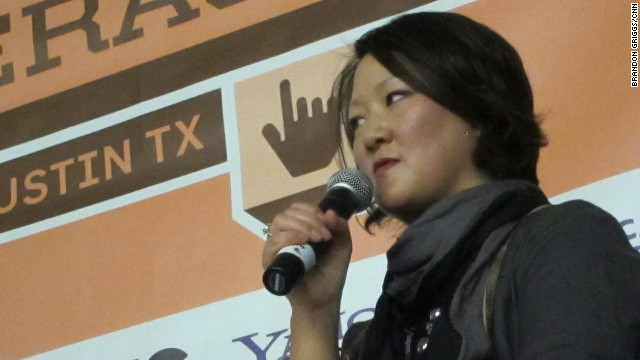 Jean H. Lee, Korea bureau chief for the AP, speaking Saturday at South by Southwest in Austin, Texas.