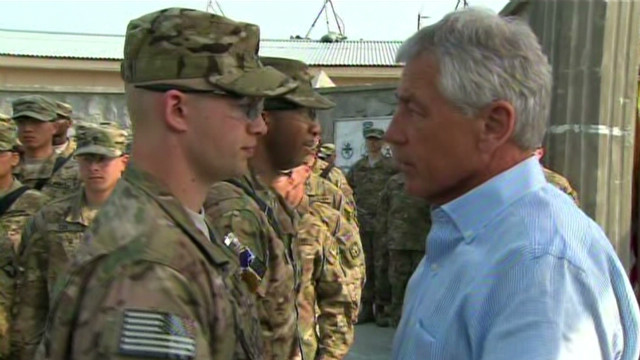 Hagel unfazed by suicide attack