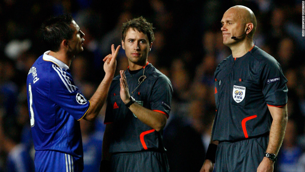 Chelsea players raged at referee Tom Henning Ovrebo after he failed to give what they considered to be multiple penalties during a 2009 Champions League semifinal second leg against Barcelona. The Norwegian says players and coaches should be educated on the psychological impact abuse has on referees.