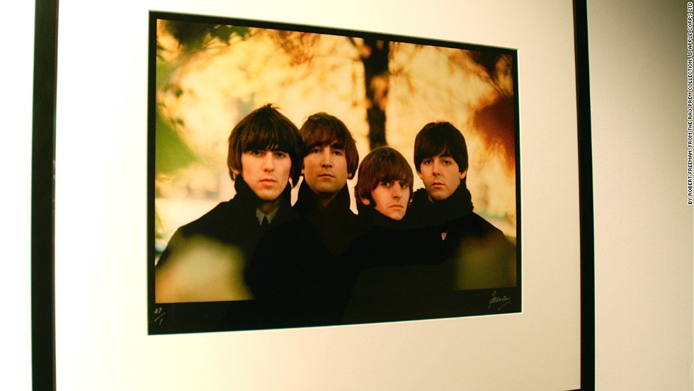 "This is an outtake from the band's fourth studio album ""Beatles for Sale"" back cover, which was shot at Hyde Park in London."