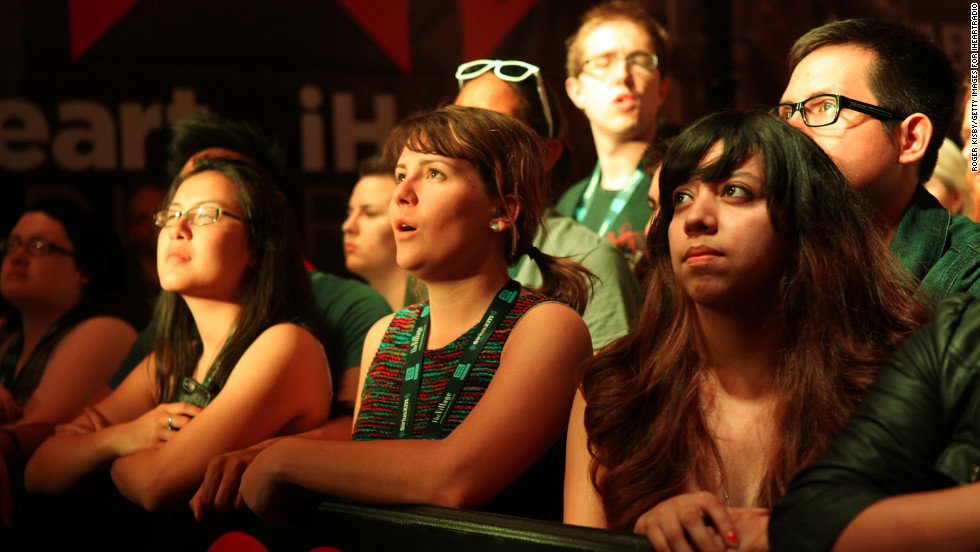 Fans attend the iHeartRadio showcase on Tuesday, March 12.