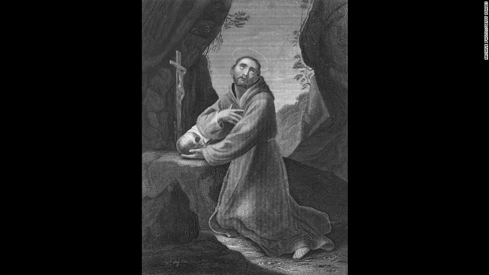St. Francis of Assisi -- The Italian friar, born Giovanni di Bernardone, founded the Franciscan order. He's the patron saint of animals and the environment.