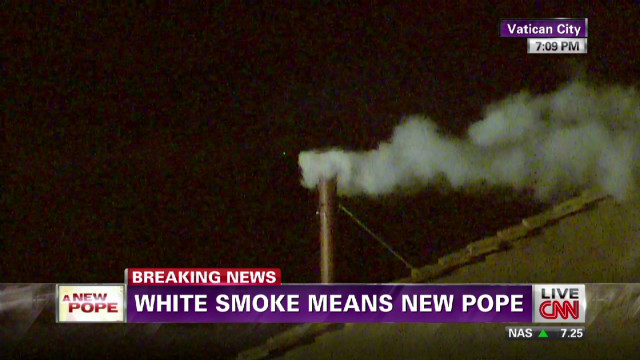 White smoke indicates new pope