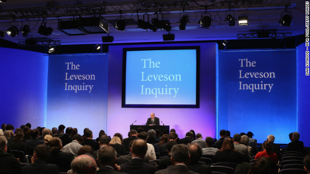 Lord Justice Leveson delivers his findings into the Leveson Report on November 29, 2012 in London, England.