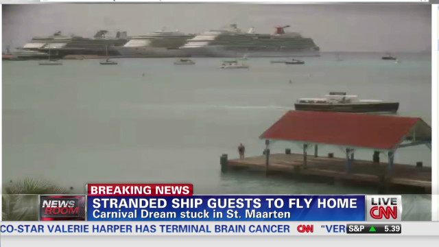 Reporter stuck on Carnival cruise