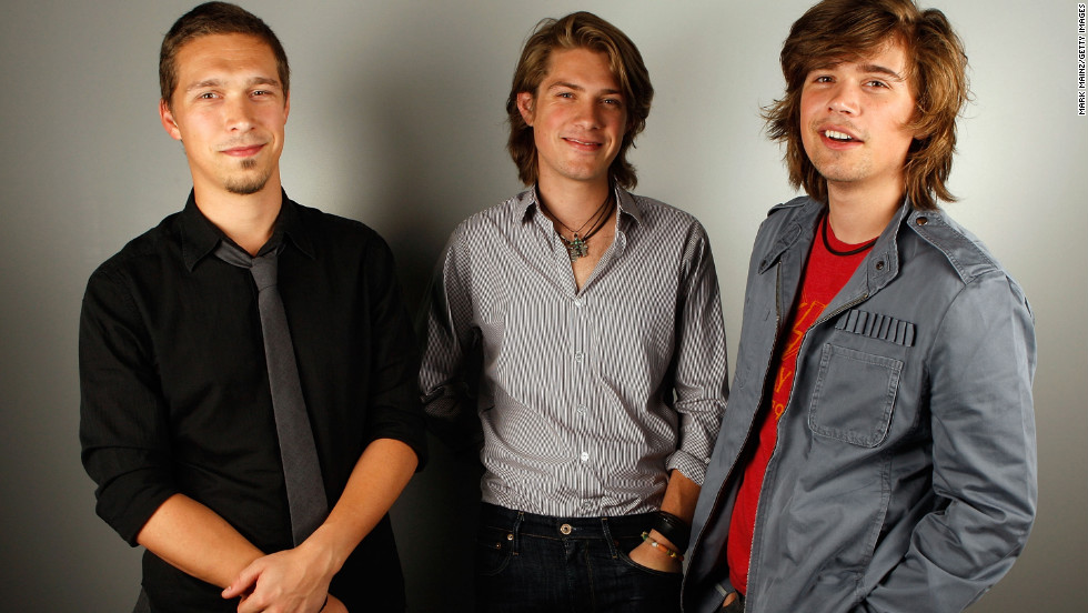 The Hanson brothers pose for a portrait in Los Angeles in 2007.